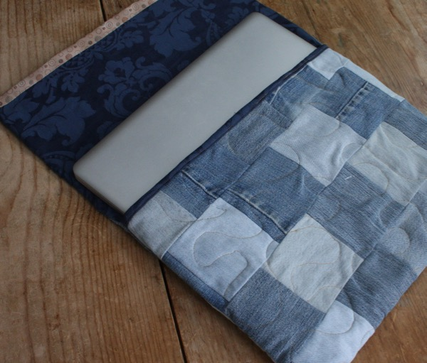 Upcycled denim laptop sleeve: Want one?